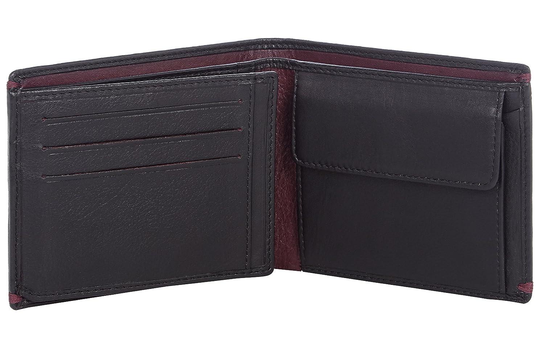 8b3cfa802eae25 Visconti portafoglio di pelle da uomo a piegatura tripla Monza Italian  Leather Wallet (MZ7)