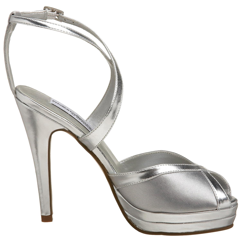 Dyeables Women's Vegas Platform Sandal B001JAHMOW 10 B(M) US|Silver