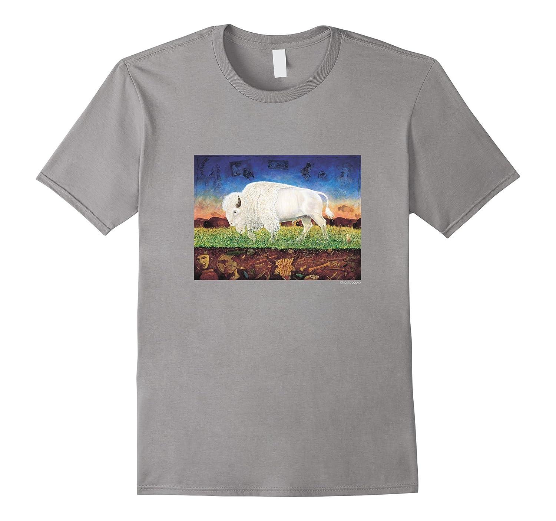 White Buffalo Big Medicine T-Shirt Monte Dolack-Rose