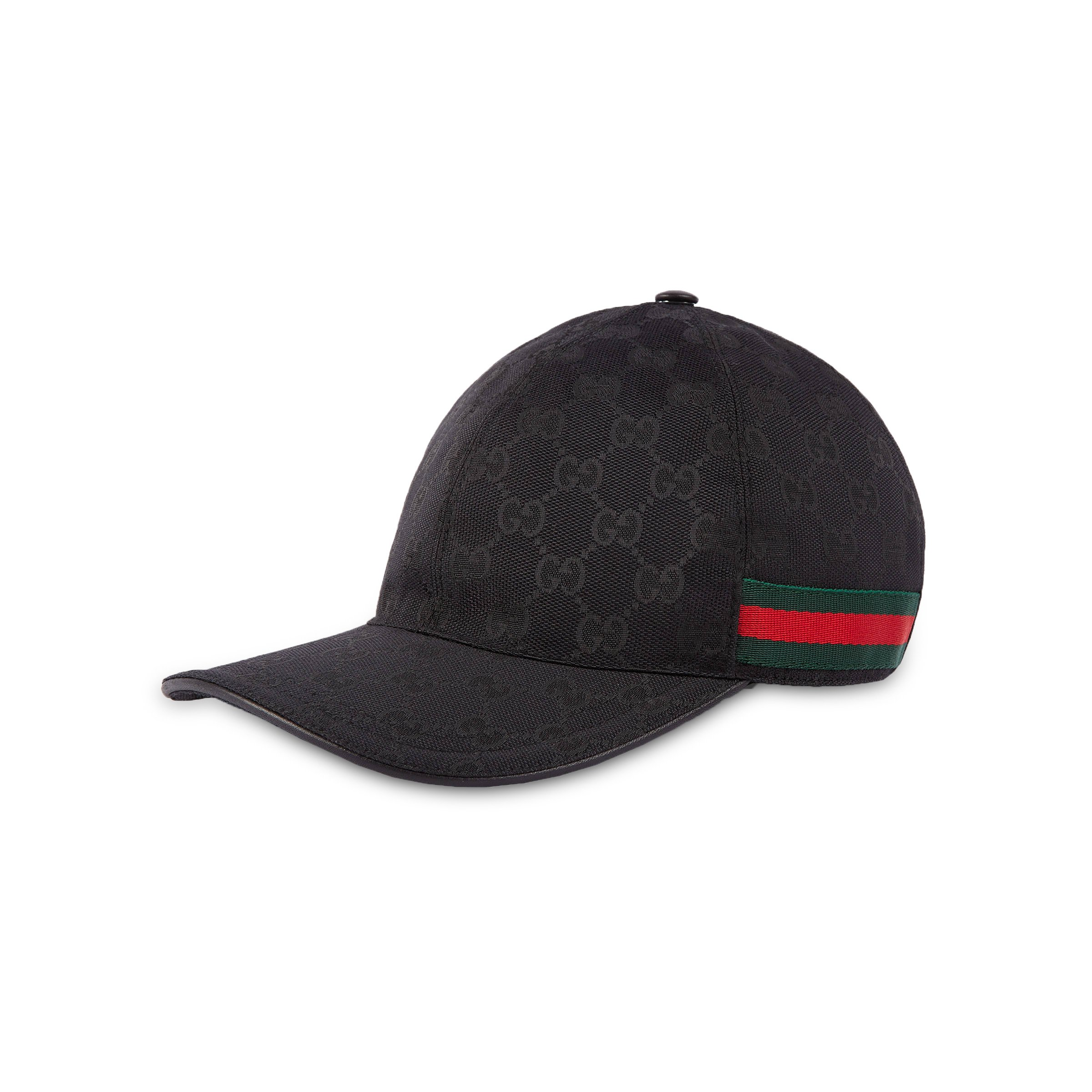Gucci Original GG Canvas Baseball Hat with Web , Black (Nero) (Small / 57 cm / 22.4 in)