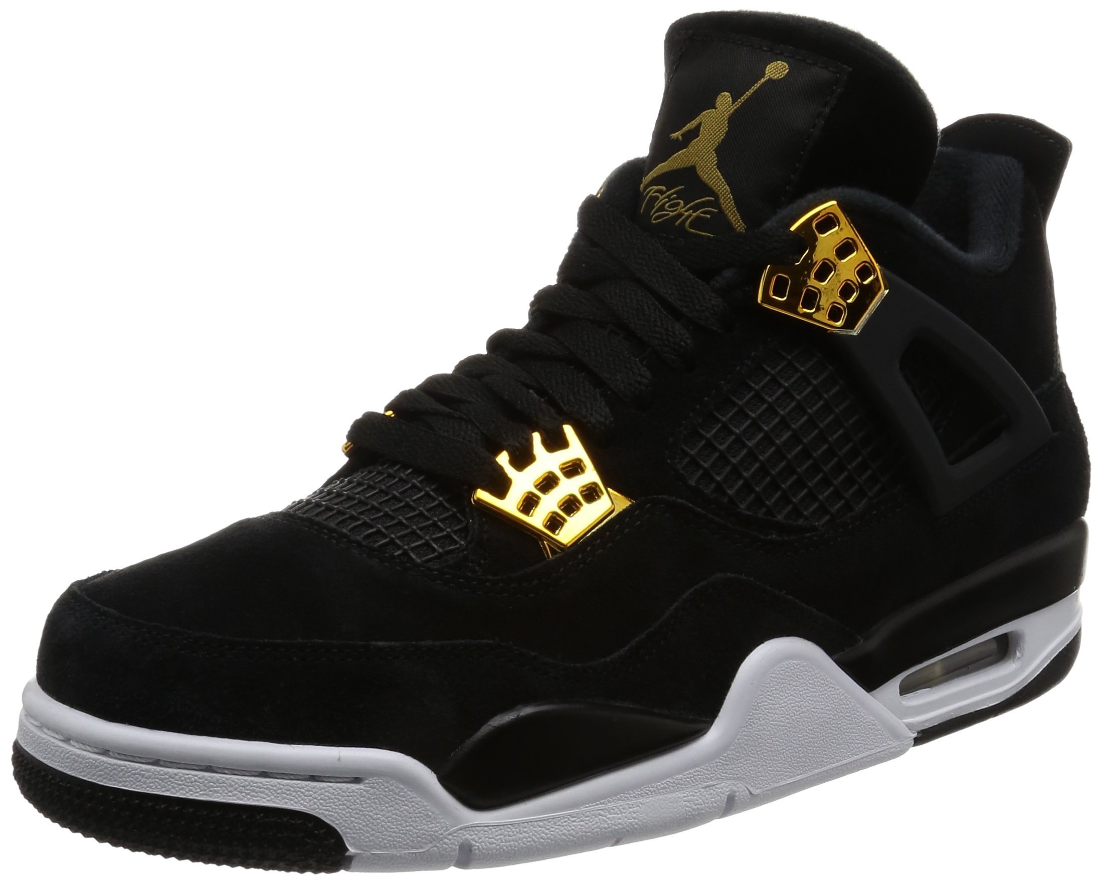 Nike Mens Air Jordan 4 Retro Black/Metallic Gold/White 308497-032 (SIZE: 11) by Jordan