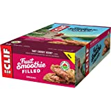 CLIF Fruit Smoothie Filled - Organic Energy Bar - Tart Cherry Berry Flavor - (50 Gram Protein Snack Bar, 12 Count)