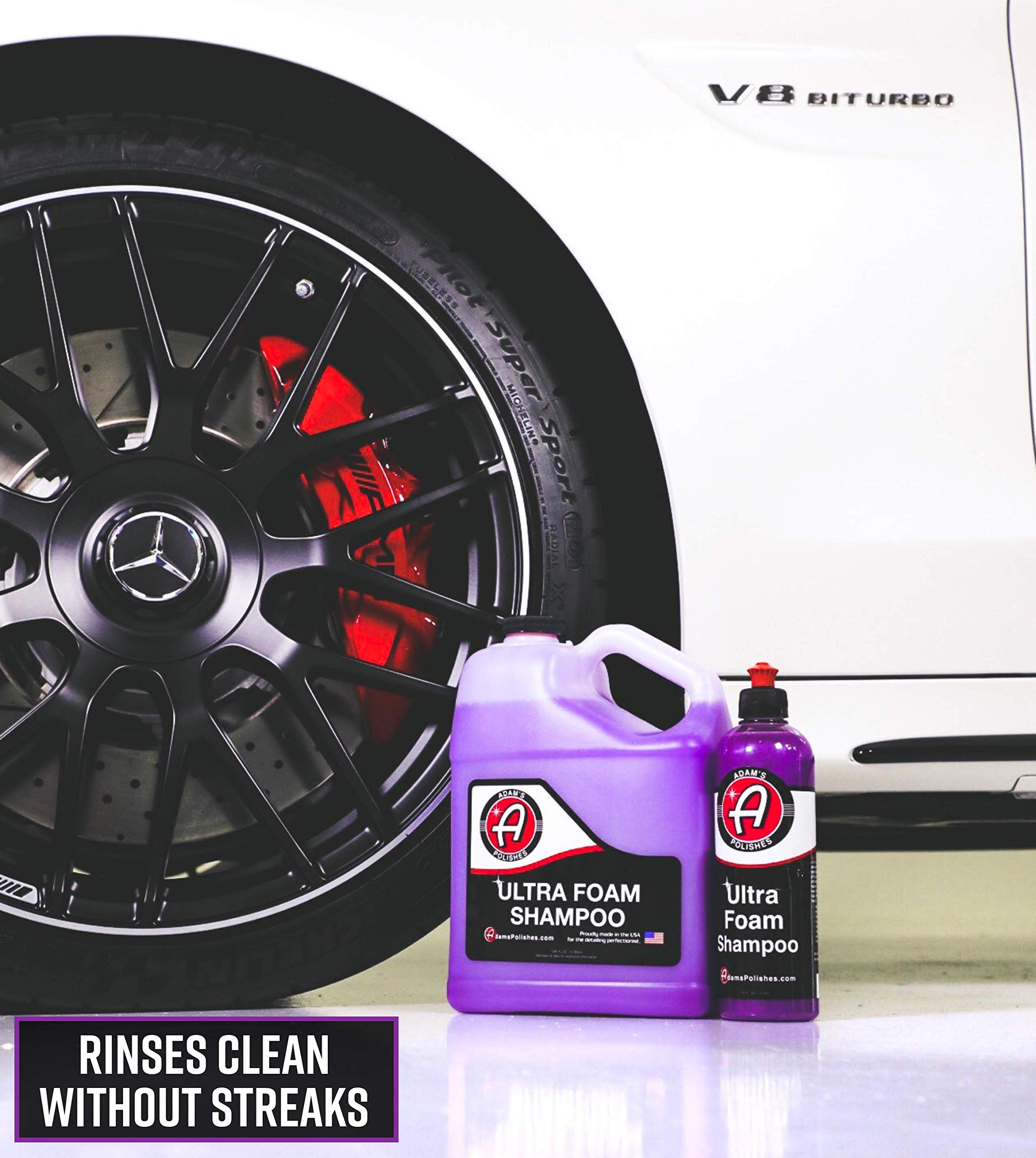 Adam's Foam Gun & Ultra Foam Gallon - Use with Any Car Wash Soap & Garden Hose for Thick Suds - Detailing Tool Does Not Require Pressure Washer & Won't Remove Wax Sealant by Adam's Polishes (Image #1)