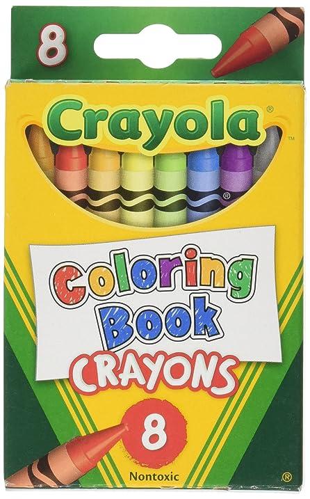 Amazon.com: Crayola Coloring Book Crayons (8 Count): Toys & Games