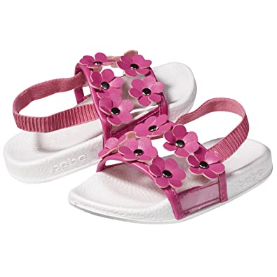 be903a030862 bebe Soft Slip-On Clear Vinyl and Flowers Slide Slippers Casual Lounge  Street Fashion Open