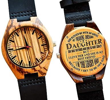 Amazon.com: Regalo para mi hija - Reloj de pulsera de madera ...
