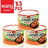 Korean Stir Fried Kimchi, Authentic Canned Napa Cabbage Original Tasteful Stir-Fry Kim Chi, Vegan Gluten Free No Preservatives - 5.64 oz/can (3 Count)