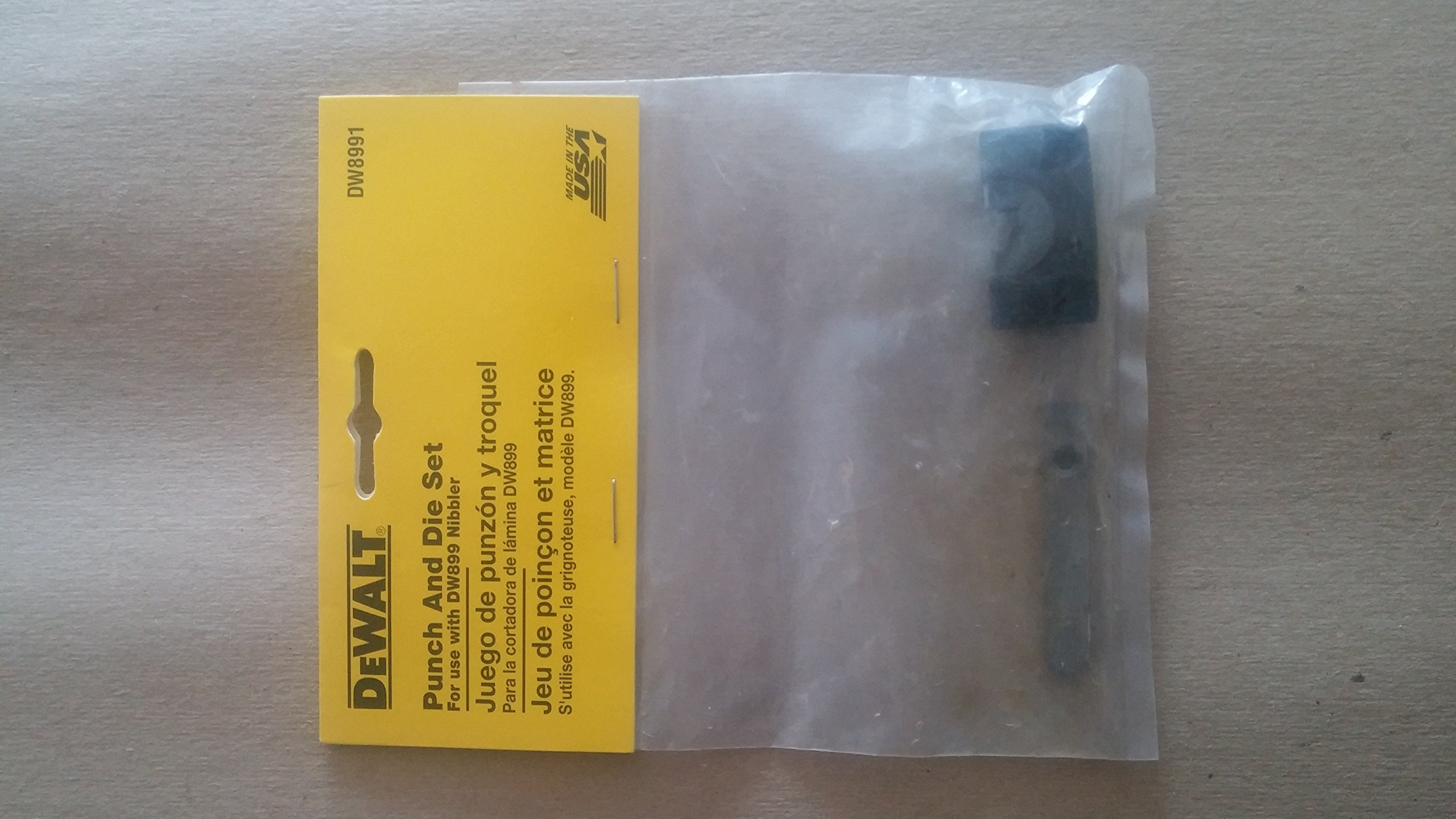 DEWALT DW8991 Punch and Carbide Die Set for the DW899 Nibbler by DEWALT