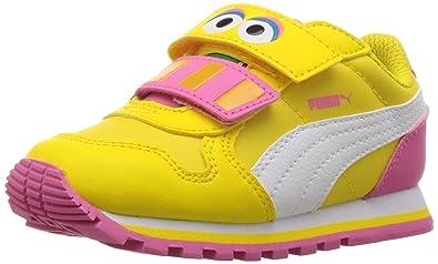 PUMA Girls' Sesame STR ST Runner Big Bird hoc V Inf Sneaker, Dandelion White