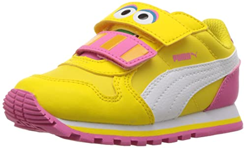 601f18a396c2a8 PUMA Girls  Sesame STR ST Runner Big Bird hoc V Inf Sneaker ...