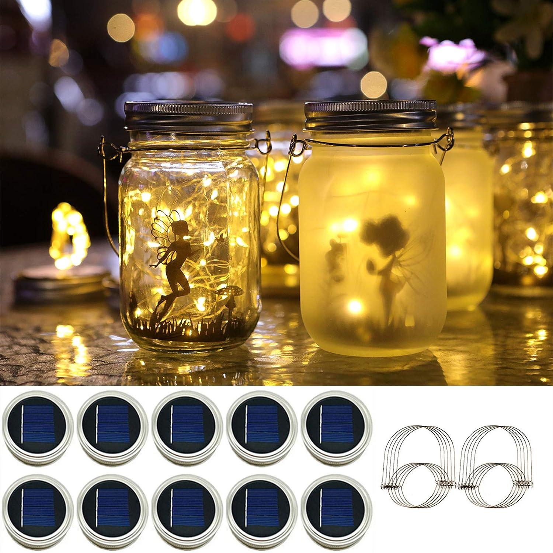 Solar Mason Jar Lights - Solar Mason String 30-Led Lid