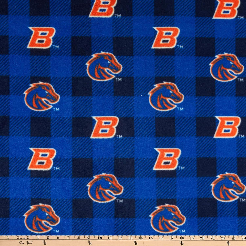 Sykel Enterprises NCAA Gonzaga Bulldogs Buffalo Plaid Fleece Fabric Blue