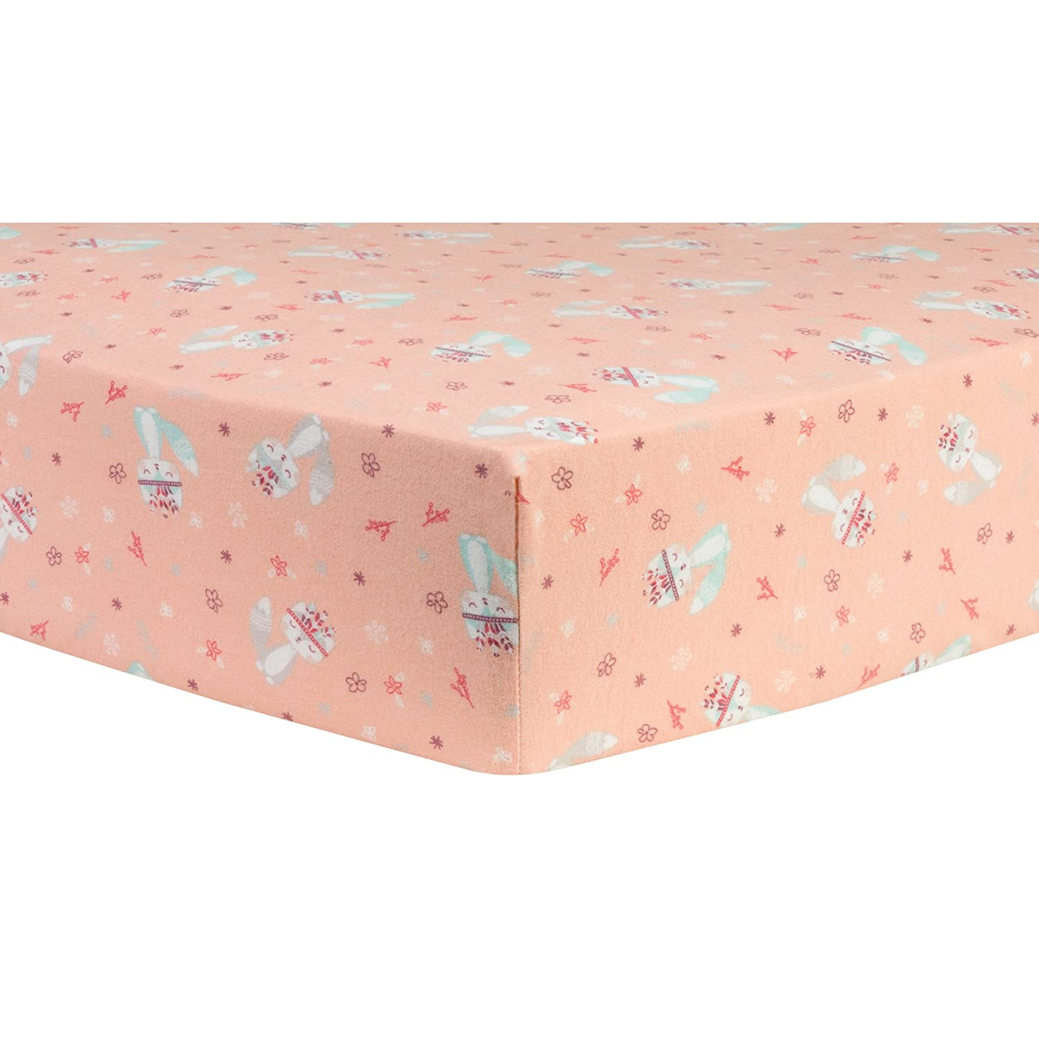Trend Lab Fox and Flowers Deluxe Flannel Fitted Crib Sheet 103165