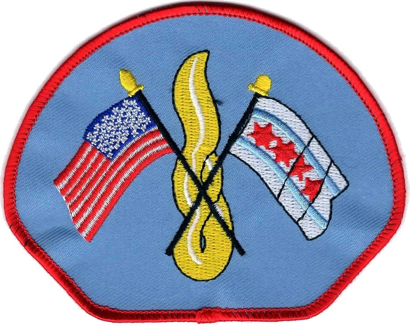 Chicago Fire Dept. city patch (Ärmelabzeichen), hellblau für FF/EMT, 11,3 x 8.8 cm hellblau für FF/EMT CHI-B