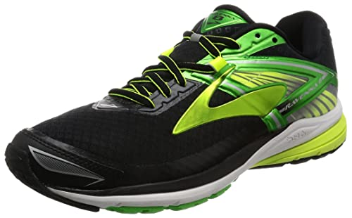 3fb61b2d915 Brooks Men s Ravenna 8 Black Classic Green Nightlife Athletic Shoe  Buy  Online at Low Prices in India - Amazon.in