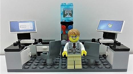 Nice LEGO Office Setup Desks Computers, Water Cooler Minifigure U0026 MORE. CITY  Modular