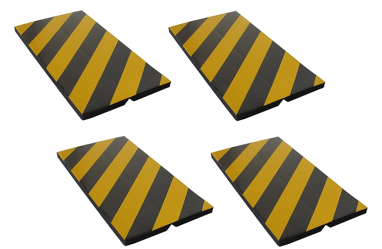 FCP4425BYx4 Protector de esquina adhesivo, fabricados en espuma goma, para la protecció n de las columnas de garaje y aparcamientos, dimensiones 44x25x2 cm, color negro/amarillo (4 piezas) para la protección de las columnas de garaje y aparcamientos