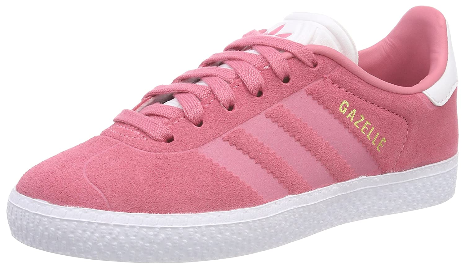 competitive price 7bd55 50d0d Amazon.com   adidas Originals Gazelle J Chalk Pink Suede Youth Trainers  Shoes   Fashion Sneakers