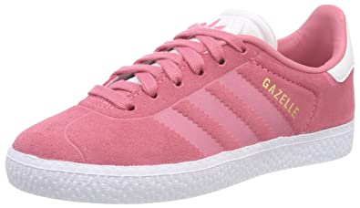 4a6433976c1 Amazon.com | adidas Originals Gazelle J Chalk Pink Suede Youth ...