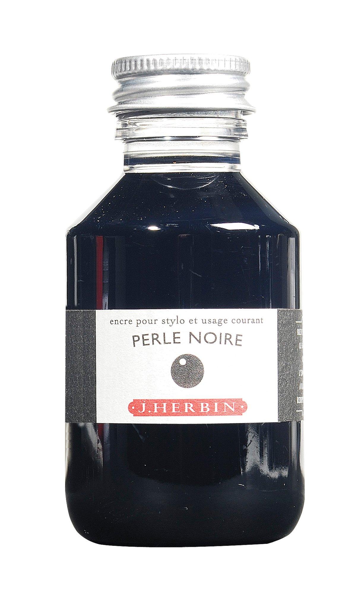 J. Herbin Fountain Pen Ink - 100 ml Bottled - Perle Noire by Herbin (Image #1)