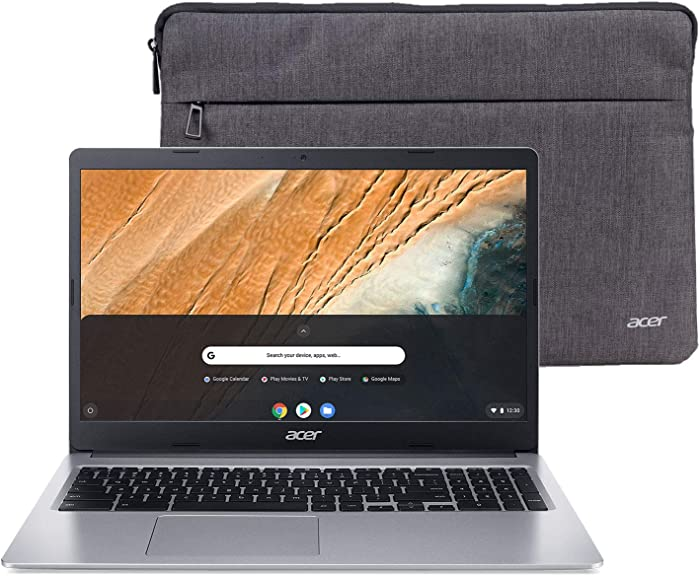 "Acer Chromebook 315 15.6"" HD Intel N4000 4GB RAM 32GB eMMC Webcam BT Chrome OS + Protective Sleeve"