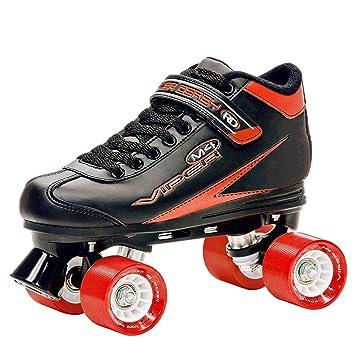 Roller Derby Viper M4 - Patines tradicionales (ruedas en paralelo), color negro y rojo: Amazon.es: Deportes y aire libre