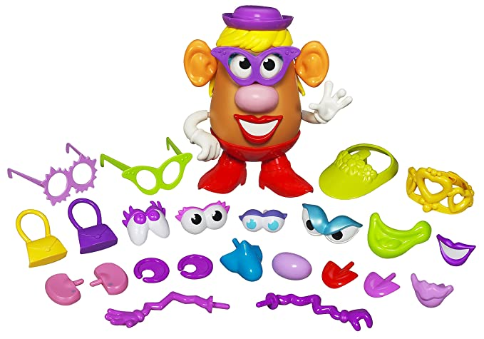 Playskool Mrs. Potato Head Silly Suitcase Parts and Pieces Toddler Toy for Kids
