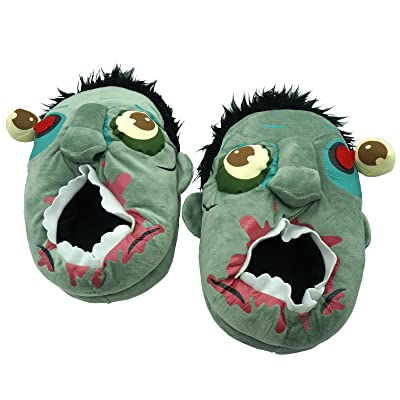 Eroilor Zombie Plush Slippers Monster Warmer Slippers One Size (5 to 8) Halloween Cosplay Costume Shoes