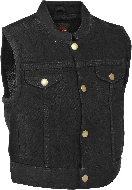 Black, X-Small Milwaukee Performance Denim Unisex-Child Kids Club Style Snap Front Vest