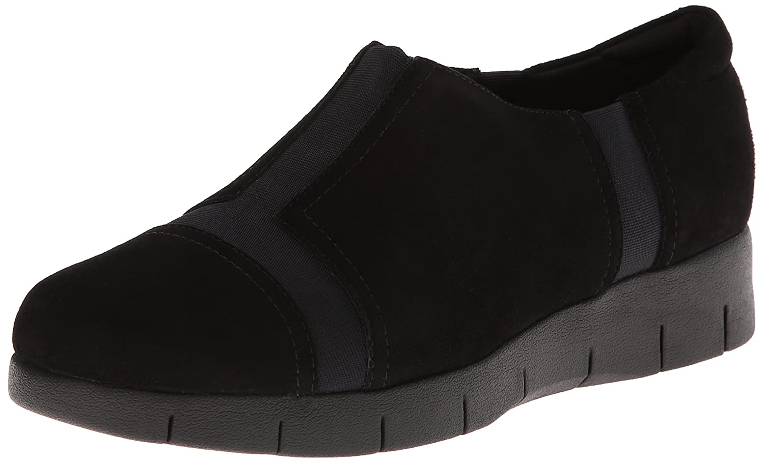 CLARKS Women's Daelyn Plaza Flat B00ISP1WO2 7 B(M) US|Black Suede