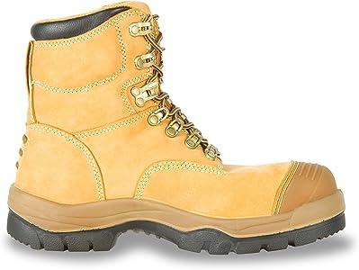 Steel Toe Work Boots, Wheat (55232