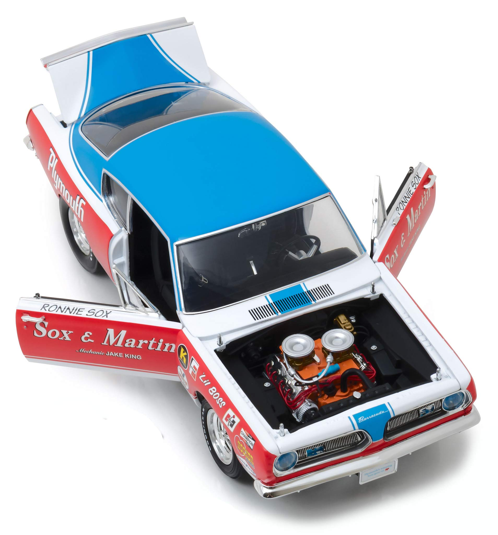 1968 Plymouth Barracuda Sox & Martin 1/18 Diecast Model Car by Highway 61 18003