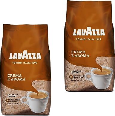 Lavazza Crema e Aroma, Café en Grano, Pack de 2, 2 x 1000g: Amazon.es: Alimentación y bebidas
