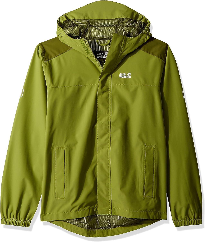 Jack Wolfskin Kinder Oak Creek Jacket Atmungsaktiv Wasserdicht Winddicht Reflektoren Outdoor Wetterschutz, Regenjacke Wetterschutzjacke
