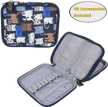 Teamoy Kits de Ganchillo Estuche para Crochet Organizador de Agujas Bolsa de Herramientas Juego del Ganchos (No Incluido ningún Accesorio), Gato Azul: Amazon.es: Hogar