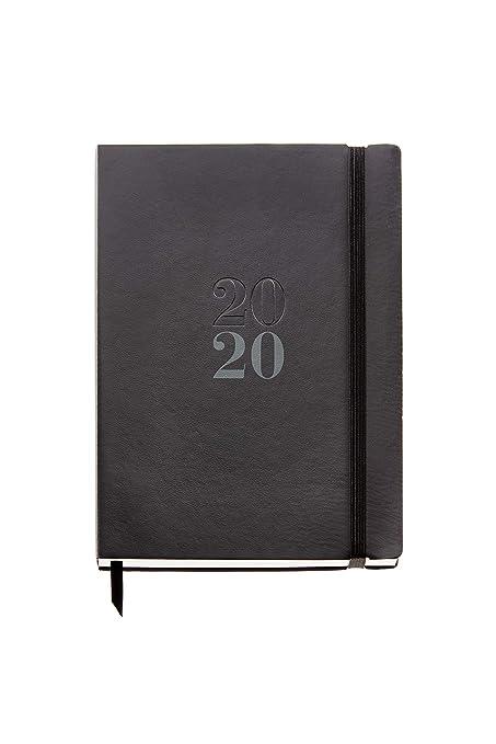 Miquelrius 22057 - Agenda 2020, Día Página (155 x 213 mm), sobremesa, Luxor Negro, Castellano