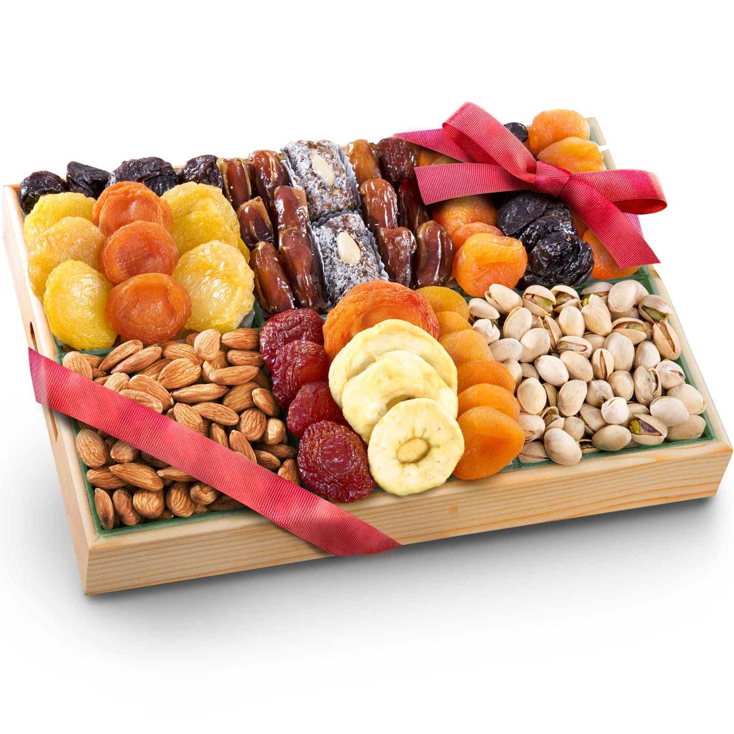 Golden State Fruit Pacific Coast Deluxe Dried Fruit Tray with Nuts Gift