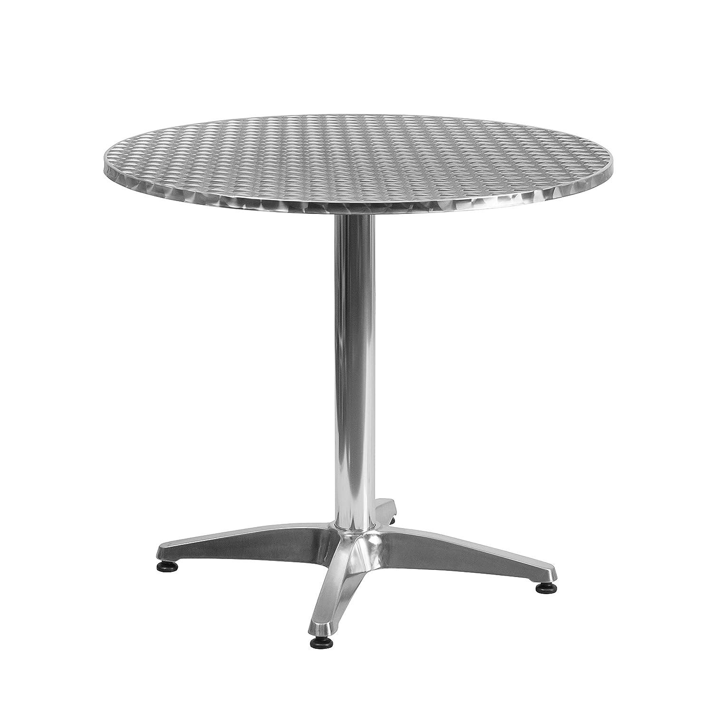 round outdoor metal table. Amazon.com : Flash Furniture 27.5\u0027\u0027 Round Aluminum Indoor-Outdoor Table With Base Garden \u0026 Outdoor Metal
