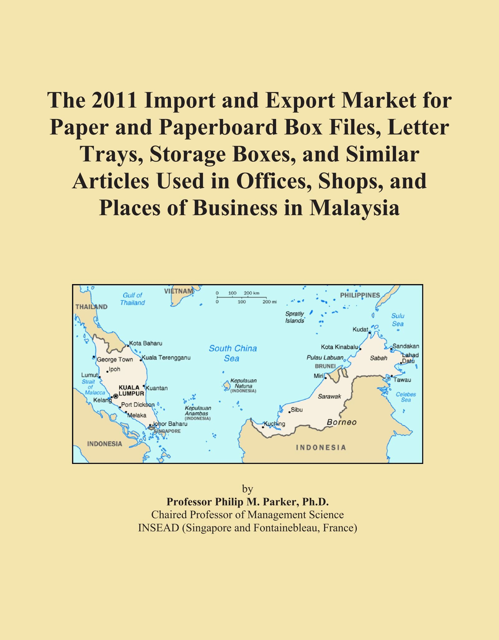 Download The 2011 Import and Export Market for Paper and Paperboard Box Files, Letter Trays, Storage Boxes, and Similar Articles Used in Offices, Shops, and Places of Business in Malaysia PDF