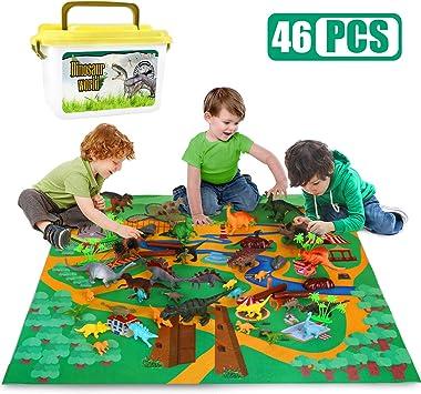 Vanplay Juego de Dinosaurios, Figura de Dinosaurio 52 Piezas Fiestas de cumpleaños Educativo Realista Juguetes Niños 3 4 5 6 7 Años: Amazon.es: Juguetes y juegos