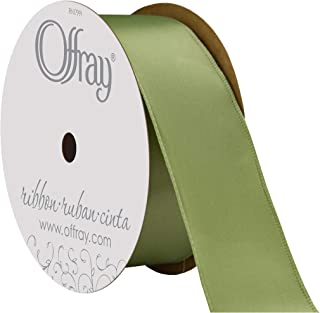 "product image for Offray Berwick 1.5"" Single Face Satin Ribbon, Spring Moss Green, 25 Yds"