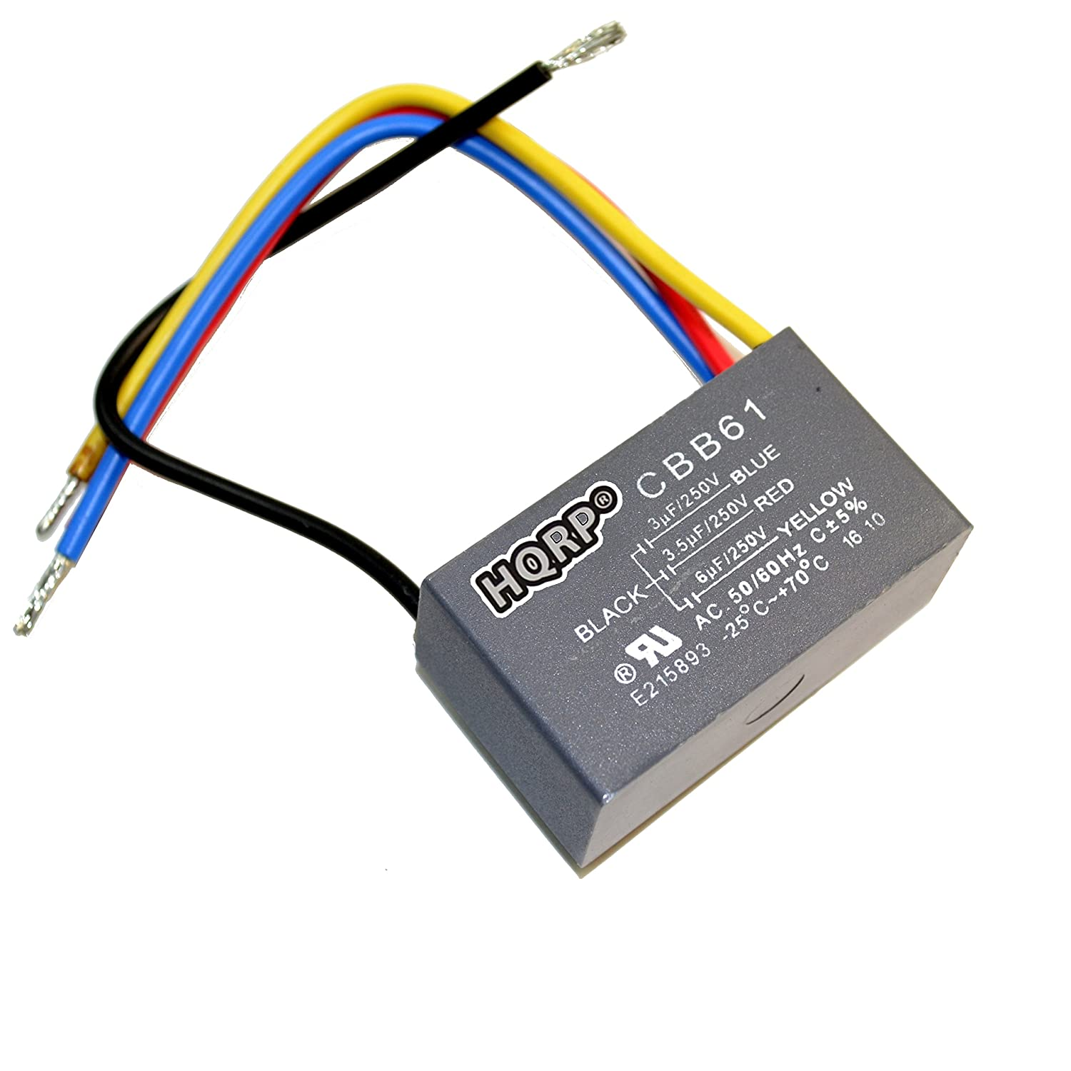 Fantastic Amazon Com Hqrp Capacitor For Harbor Breeze Ceiling Fan 3Uf 3 5Uf Wiring Database Obenzyuccorg
