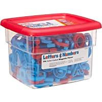 Educational Insights Color-Coded AlphaMagnets and MathMagnets, 214 Pieces