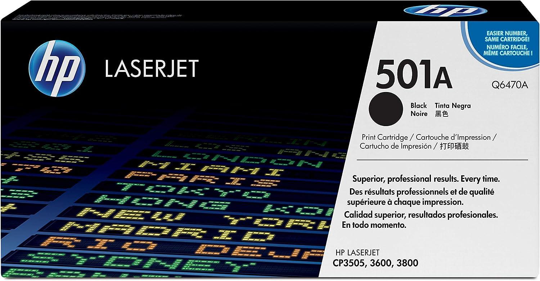 HP 501A | Q6470A | Toner Cartridge | Black