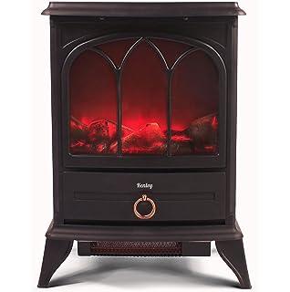 Kenley Chimenea Electrica - Efecto Estufa de Leña Ardiendo - Calefactor con Termostato - 1000W…