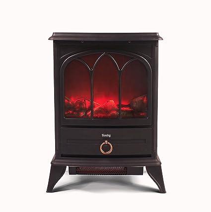 Kenley Chimenea Electrica - Efecto Estufa de Leña Ardiendo - Calefactor con Termostato - 1000W/2000W