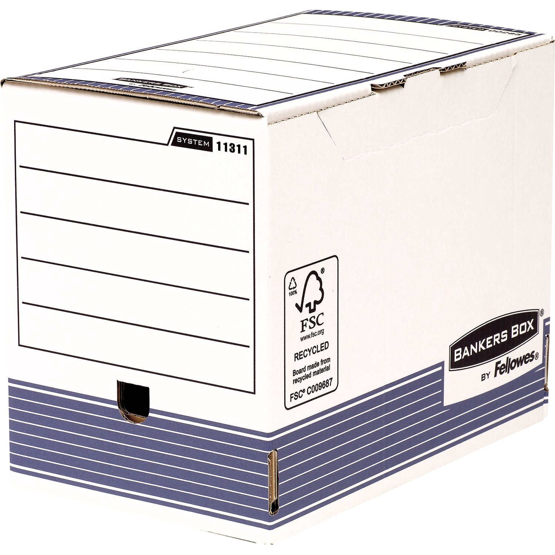 Fellowes Bankers Box System Lot de 10 Boîte d'archives A4+ Dos de 10 cm Bleu 1130902