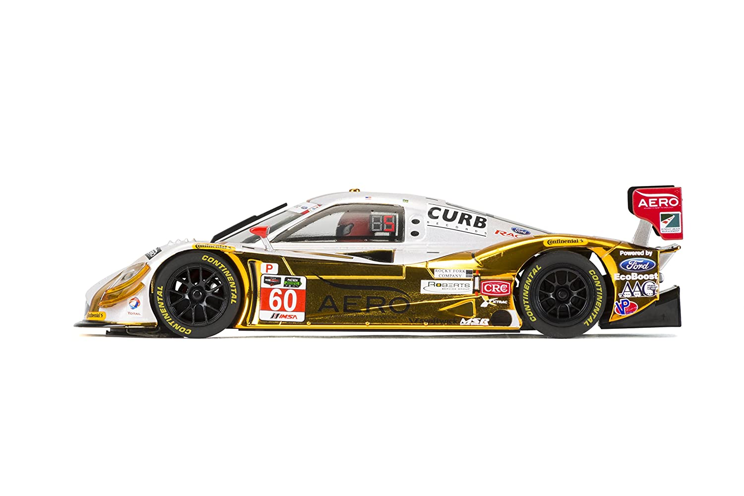 Scalextric 3841 C3841 1:32 Ford Daytona Prototype #60 MSR HD, Silber