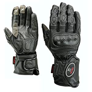 711577cdff6ad ISLERO Professional Leather Motorbike Motorcycle Gloves Windproof  Waterproof Carbon Fiber Knuckle Racing