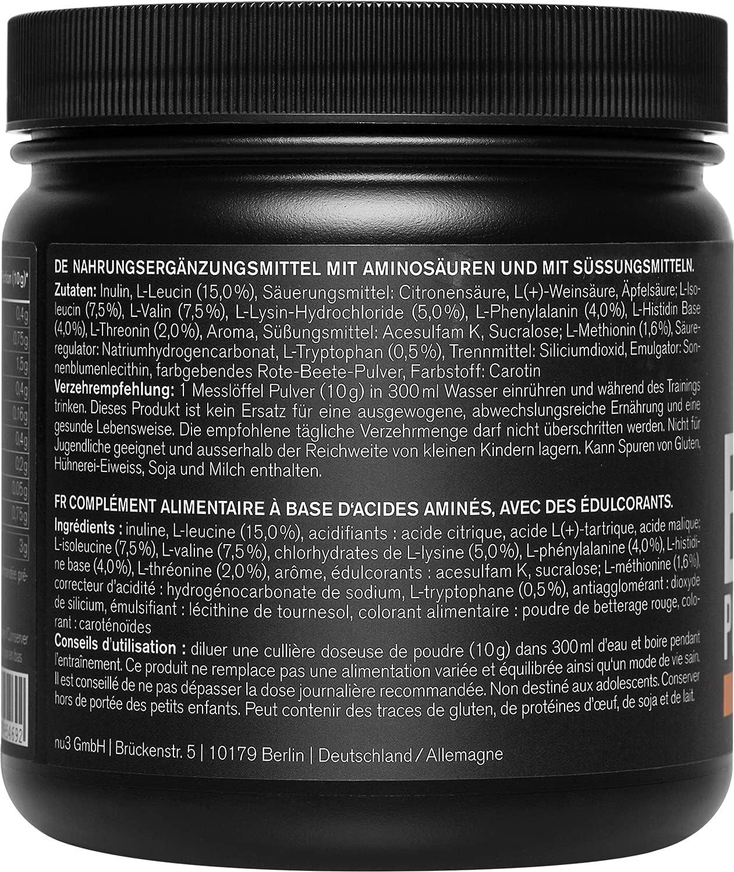 nu3 EAA en polvo – 400g sabor tropical – 8 aminoácidos esenciales – Suplemento deportivo para incrementar fuerza, resistencia y musculación - Contiene ...
